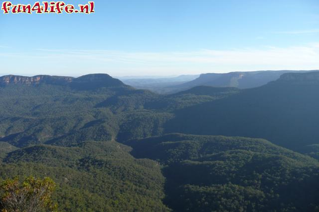 Uitzicht over de Blue Mountains